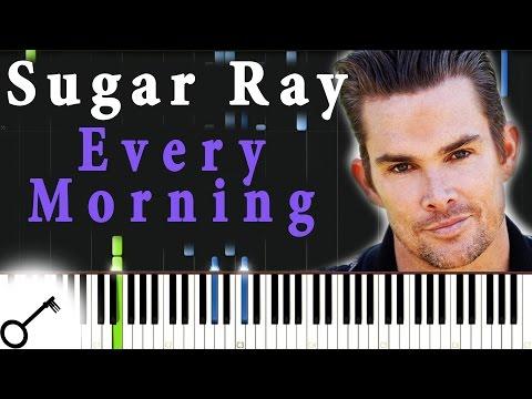 Sugar Ray - Every Morning [Piano Tutorial] Synthesia | passkeypiano