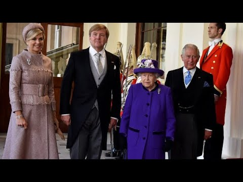 The Queen & British Royals Welcome King & Queen Of Netherlands To U.K 2018