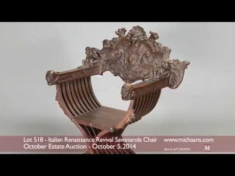 Italian Renaissance Revival Savonarola Chair