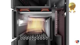 Caldera de biomasa mixta, para pellets y leña DUALTHERM de Domusa Teknik
