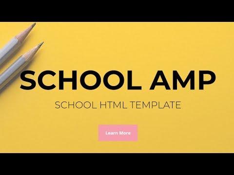 SchoolAMP - School HTML Template!