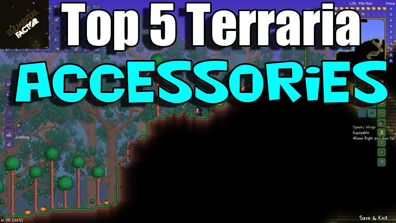 Top 5 Terraria 12 Accessories  Terraria 12 Gameplay