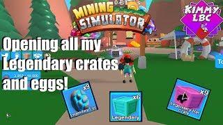 Roblox | Mining Simulator *Öffnen Sie alle meine legendären CodeKisten und Eier*