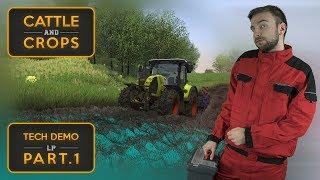 LEPŠÍ FARMING SIMULATOR? | Cattle and Crops Tech Demo #01