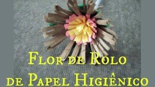Flor de Rolo de Papel Higiênico 3 por Flores e Flores