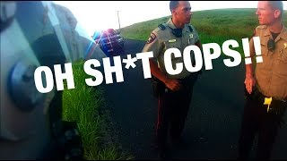 Dirt bike pulled over by COPS!!