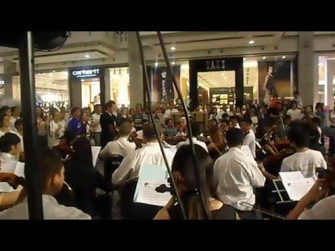 Philippine National Anthem - Bangkok Charity Orchestra @ Central World