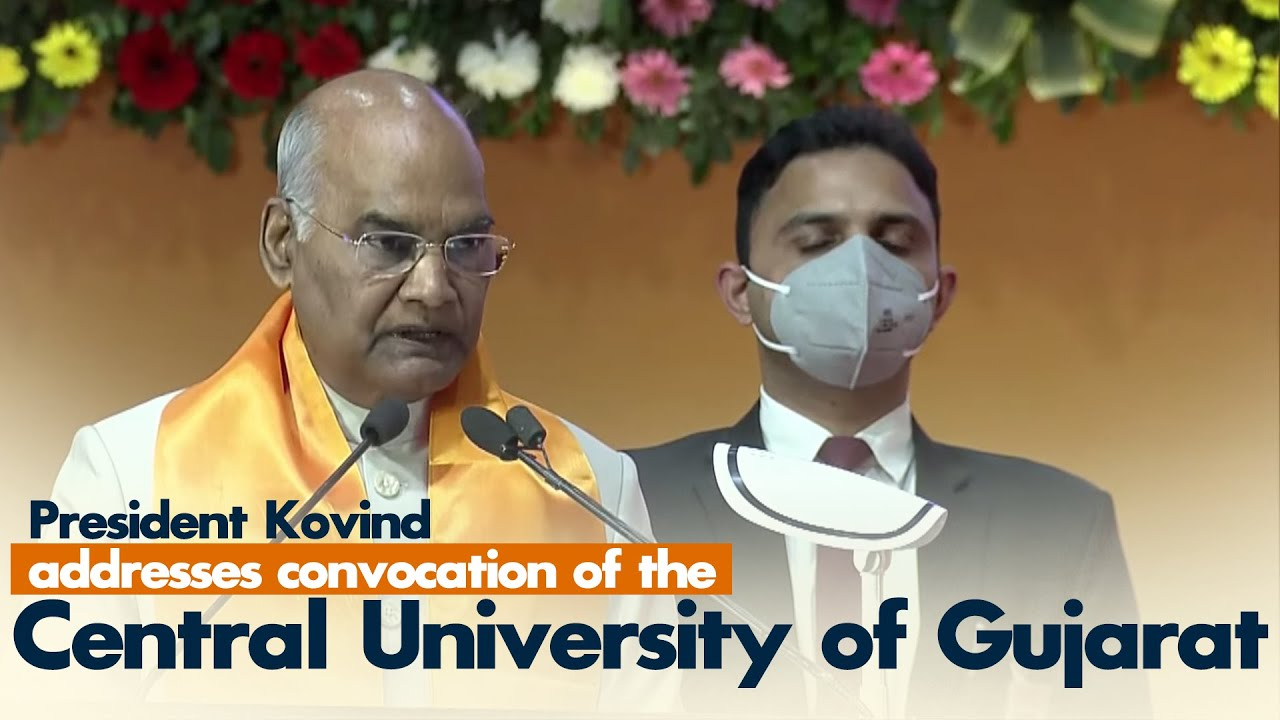 President Kovind addresses convocation of the Central University of Gujarat