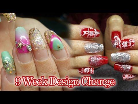 9-week-infill-|-acrylic-nails-|-christmas-party-nails-|-#notpolish