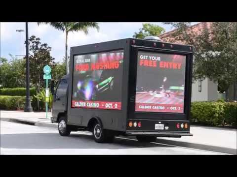 Mobile digital LED billboard advertising truck