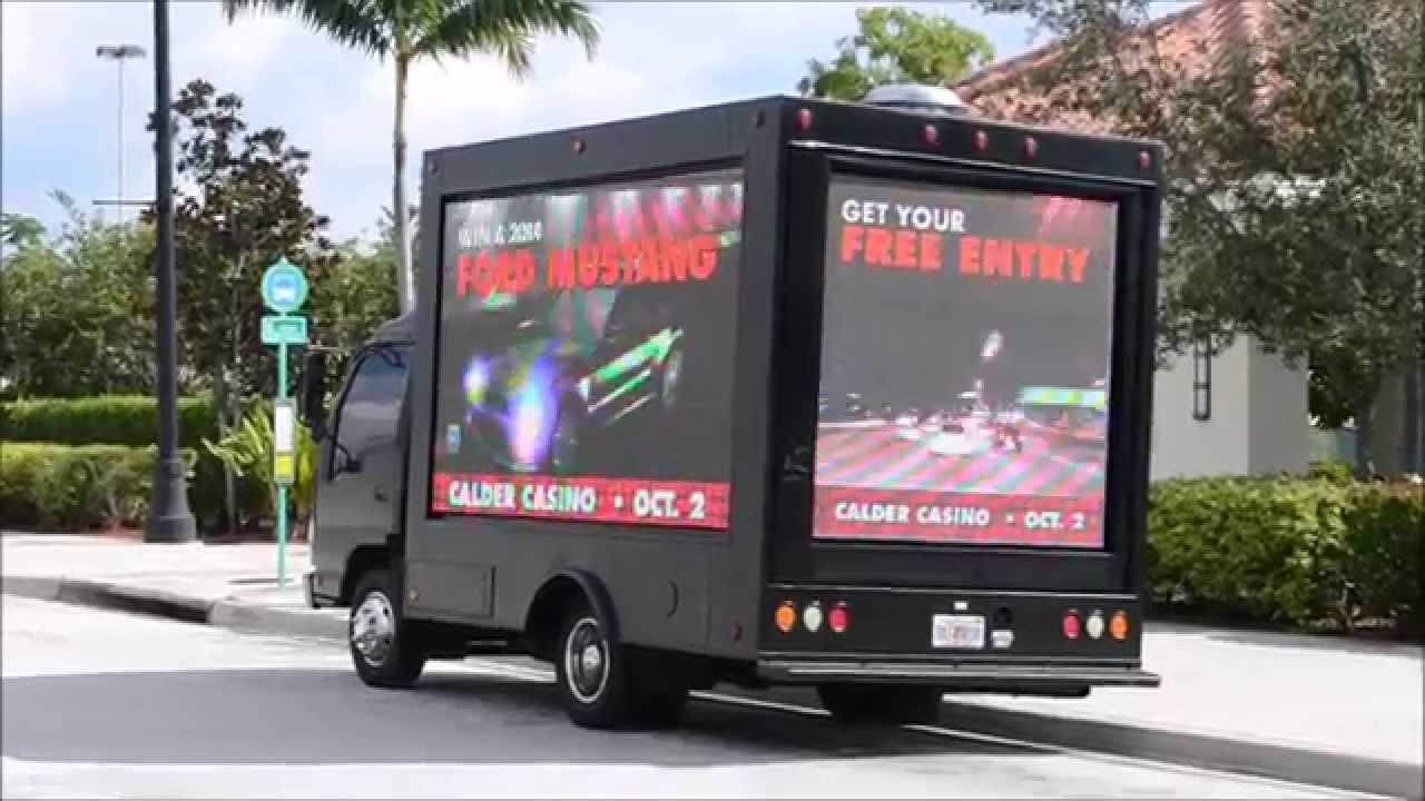 Mobile digital LED billboard advertising truck