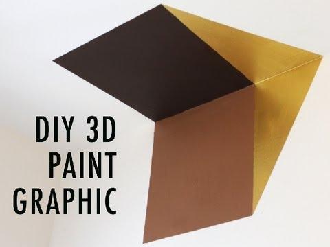 DIY 3D Paint Graphic