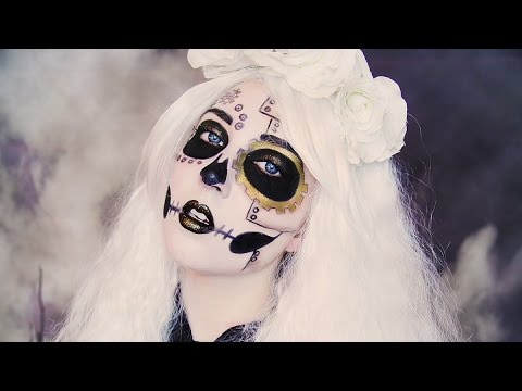 steampunk skeleton makeup tutorial youtube. Black Bedroom Furniture Sets. Home Design Ideas