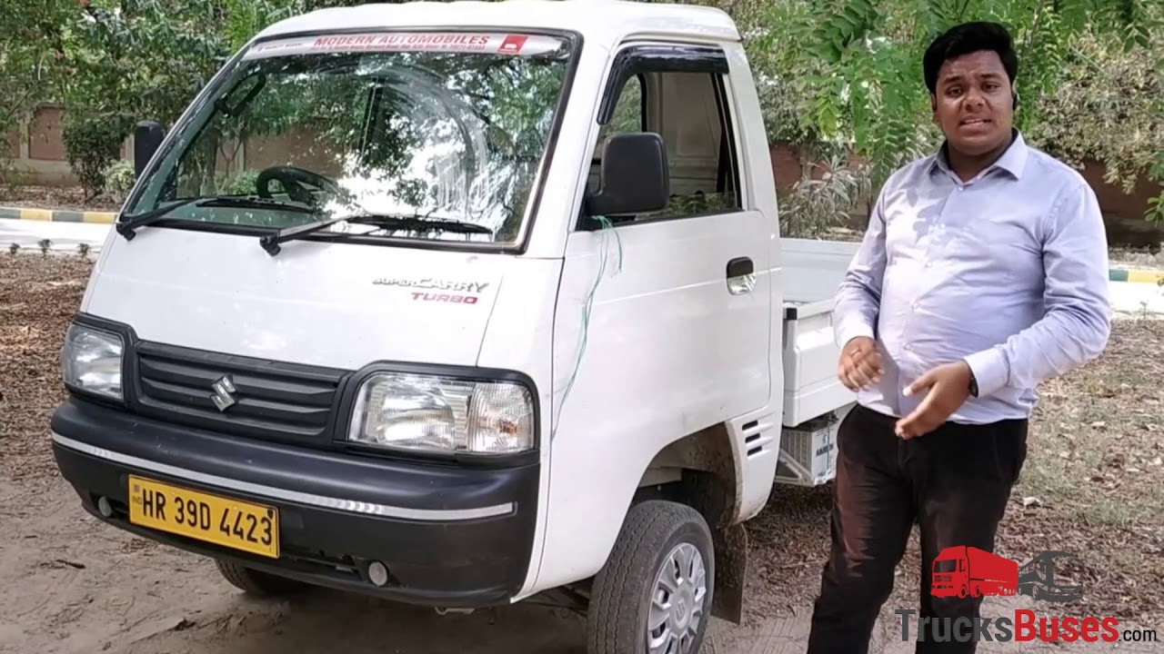 Maruti Super Carry Mini Truck Review Payload Mileage Price Trucksbuses Com Youtube