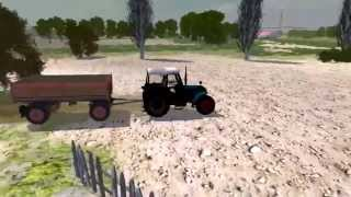 Обзор  игры гонки на тракторах и комбайнах   Farm Machines Championships 2013 геймфан.рф