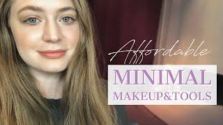 Однотонный макияж / минимум косметики и кистей для макияжа: пошаговый видео урок