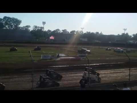 USAC Midgets Heat 1  Kokomo Speedway