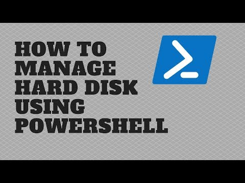 How to Manage Hard Disk using PowerShell - YouTube