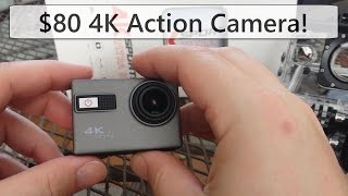 $80 4k action camera! review & sample video. gopro competitor.