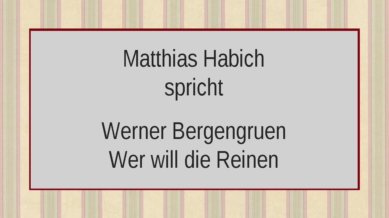 Werner Bergengruen Wer Will Die Reinen Von Den Schuldigen Scheiden