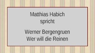 """Werner Bergengruen """"Wer will die Reinen von den Schuldigen scheiden"""""""