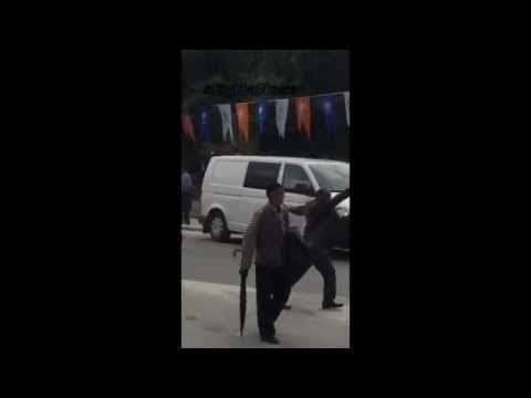AKP Mitinginde Takla Atan Çılgın...