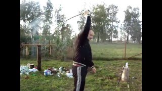 Центр удара шашки.(плохое качество видео)Новичок. 03.10.2015.