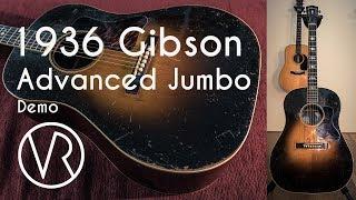 1936 Gibson  AJ Advanced Jumbo / Demo / The Fellowship Of Acoustics / VintageandRare.com