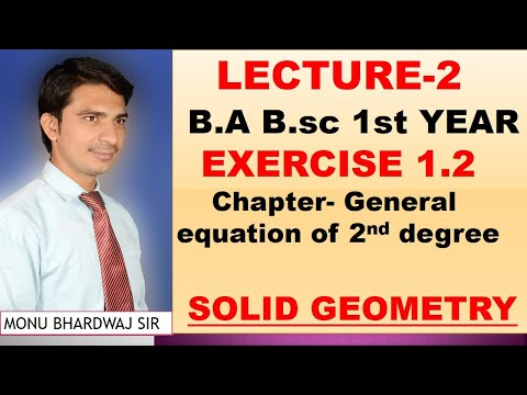 Length of Semi axis, major axis minor axisB.A B.sc 1st YEAR EXERCISE 1.2 SOLID GEOMETRY
