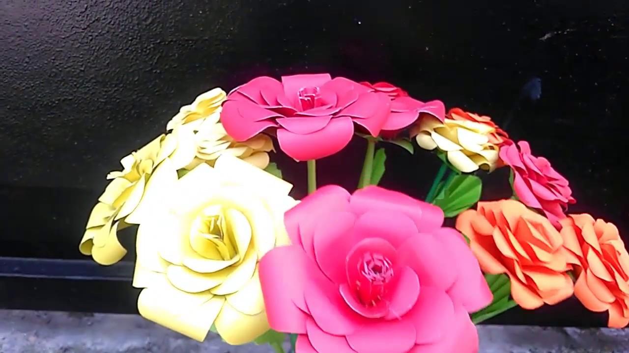 Cara Mudah Membuat Bunga Mawar Indah Merekah Dari Kertas
