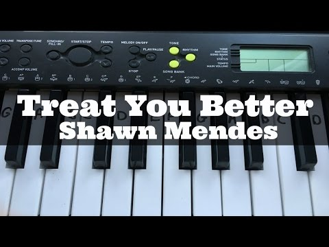 Treat You Better - Shawn Mendes   Easy Keyboard Tutorial With Notes (Right Hand)