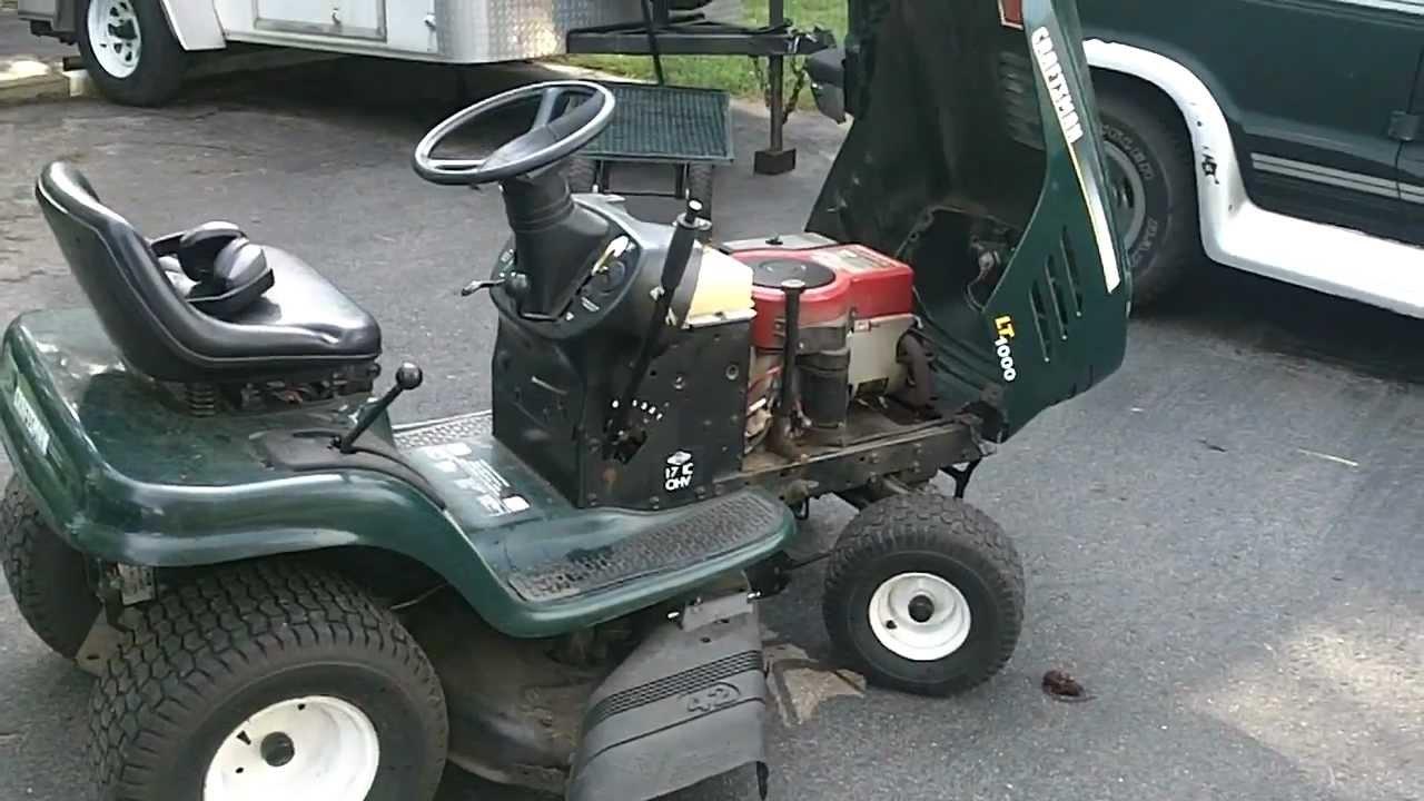 Craftsman Riding Lawn Mower Lt1000 Wiring Diagram