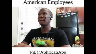 American vs African United Airlines Employees - Aphricanace Comedy