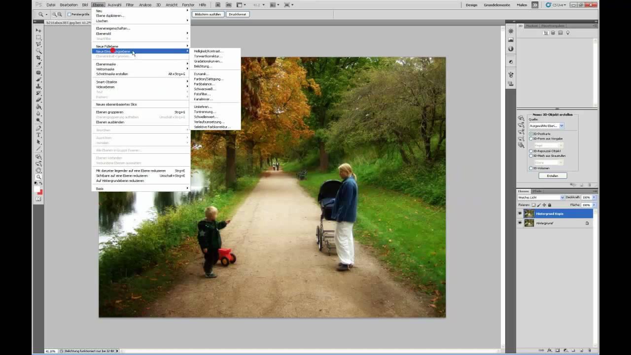 Traumeffekt in Photoshop erstellen - Tutorial deutsch - YouTube