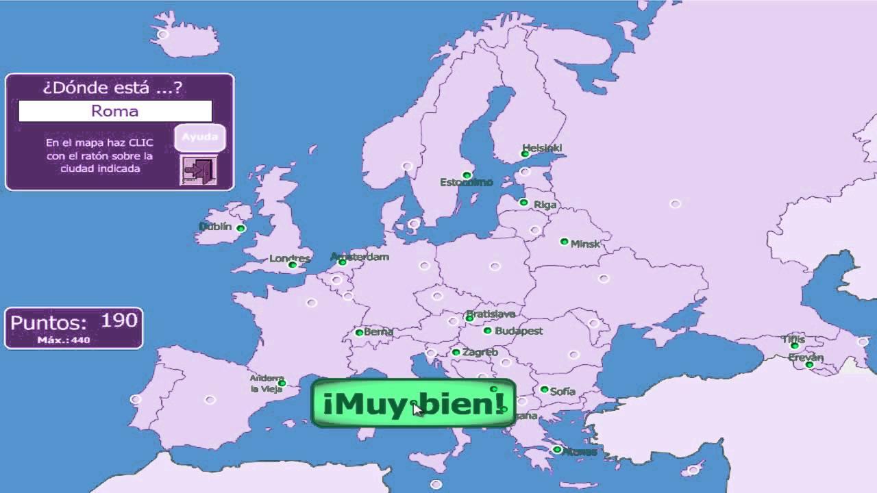 Mapas 1 Capitales De Europa  YouTube