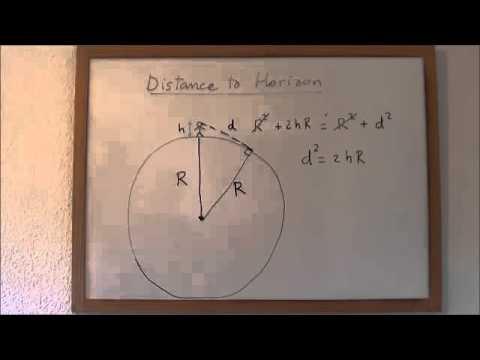 Mathgical Universe: Distance to Horizon