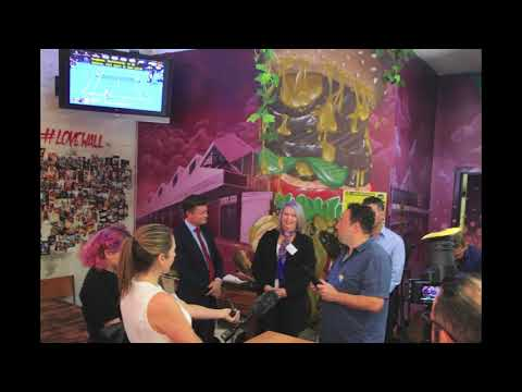 The Victorian minister of Employment visits #burgerlove
