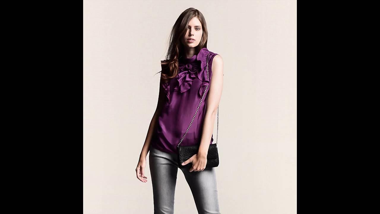 Tendencias de moda 2017 c mo combinar una blusa morada - Colores que combinan con lila ...