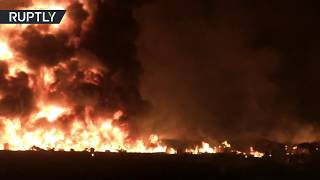 Moment of fatal pipeline explosion in Mexico (WARNING: DISTURBING)