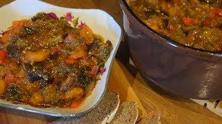 Соте из баклажанов/Ароматное овощное рагу/Просто и по-домашнему