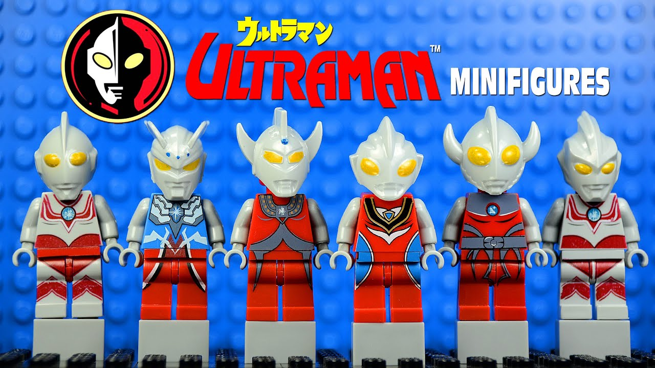 Lego Ultraman ウルトラマン Anime Knockoff Minifigures Youtube