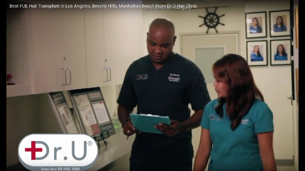 Best Hair Transplant in Los Angeles LA, Dr.UGraft BHT FUE Hair Restoration Surgeon Dr U Hair Clinic - YouTube