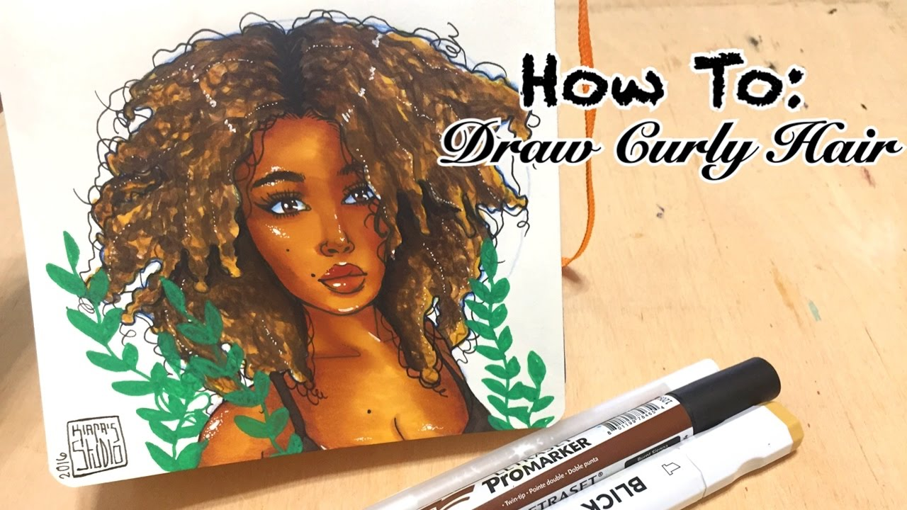 How I Sketch Curly Hair Youtube