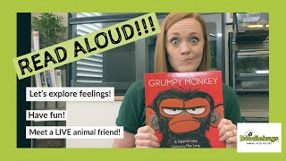 Grumpy Monkey READ ALOUD - Story time with LIVE animal guest!