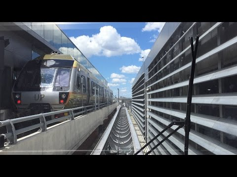 Riding Toronto Pearson International Airport LINK Train 7/3/16 (Round Trip 60 FPS)