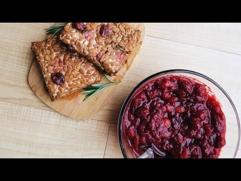 Black Pepper Tempeh + Savory Cranberry Sauce • VEGAN THANKSGIVING Recipe