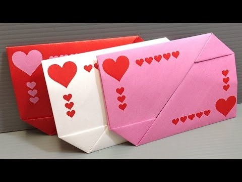 Origami Valentines Day Gift Card Envelopes - Print at Home
