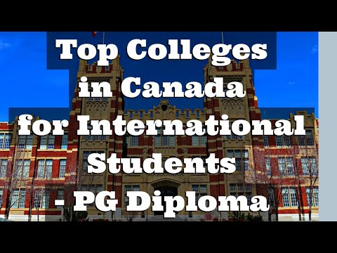 Top Colleges In Canada For International Students - PG Diploma