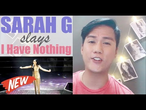 Vocalist Reacts to Sarah G - I Have Nothing | THIS I5 ME Concert