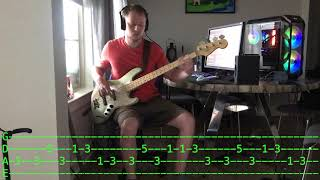 The Trammps - Disco Inferno bass cover with tabs
